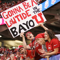 2 January 2009: A Utah fan holds up a sign during a 31-17 win by the Utah Utes over the Alabama Crimson Tide in the 75th annual Allstate Sugar Bowl at the Louisiana Superdome in New Orleans, LA.