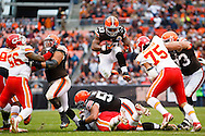 an NFL football game Sunday, Dec. 9, 2012, in Cleveland. (AP Photo/Rick Osentoski)