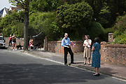 SOCIAL DISTANCING, , VE day, Pashley Rd. Eastbourne 8 May 2020