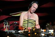 DJ Fatboy Slim plays at Glastonbury 2007.