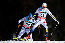 January 1, 2018 - Lenzerheide, Switzerland - Gustav Eriksson of Sweden competes in men's 15km pursuit free technique during Tour de Ski on January 1, 2018 in Lenzerheide. (Credit Image: © Jon Olav Nesvold/Bildbyran via ZUMA Wire)