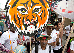 ©under licence to London News Pictures. Baishakhi Mela, the Bangladeshi community celebrate the Bengali New Year in Brick Lane, Banglatown, London with a parade. Photo credit should read Bettina Strenske/LNP.