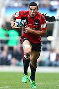 27.03.2011 Crusaders Sonny Bill Williams running in possession of ball Investec Super 15 Crusaders v Sharks from Twickenham Mar 27th