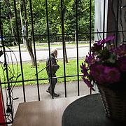 An old man walking in Narva