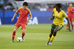 WANG Shanshan, Sibulele HOLWENI in action during the match of 2019 FIFA Women's World Cup France group B match between South Africa and China, at Parc Des Princes stadium on June 13, 2019 in Paris, France. Photo by Loic Baratoux/ABACAPRESS.COM