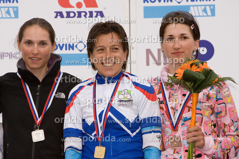 Blaza Klemencic, Sigrid Corneo and Polona Batagelj at Slovenian National Championships in Road cycling, 178 km, on June 28 2009, in Mirna Pec, Slovenia. (Photo by Vid Ponikvar / Sportida)