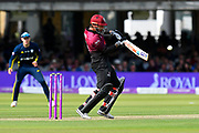 Peter Trego of Somerset plays the ball in the air and is dropped during the Royal London 1 Day Cup Final match between Somerset County Cricket Club and Hampshire County Cricket Club at Lord's Cricket Ground, St John's Wood, United Kingdom on 25 May 2019.