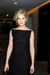 Actress ROSAMUND PIKE at the 2008 Costa Book Awards held at the Intercontinental Hotel, Hamilton Place, London on 27th January 2009.