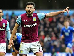 Robert Snodgrass of Aston Villa gives orders- Mandatory by-line: Nizaam Jones/JMP - 11/02/2018 - FOOTBALL - Villa Park - Birmingham, England - Aston Villa v Birmingham City - Sky Bet Championship