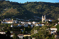 aerial view of the unesco world heritage city of ouro preto in minas gerais brazil