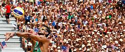 07.08.2011, Klagenfurt, Strandbad, AUT, Beachvolleyball World Tour Grand Slam 2011, im Bild Joao Maciel (BRA), EXPA Pictures © 2011, PhotoCredit: EXPA/ Erwin Scheriau