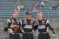 Helio Castroneves, Will Power, Ryan Briscoe, Japan Indy 300, Twin Ring Motegi, Motegi, Tochigi Japan, 9/19//2010