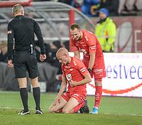 Fotball , 8. november 2019 , Eliteserien , Brann - Odd<br /> Ruben Kristiansen , Brann <br /> skadet , her med Veton Berisha , Brann