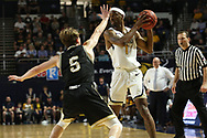 February 23, 2018 - Johnson City, Tennessee - Freedom Hall: ETSU guard Desonta Bradford (1)<br /> <br /> Image Credit: Dakota Hamilton/ETSU