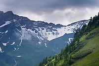 Landscape view in mountain area near Steg, Lichtenstein