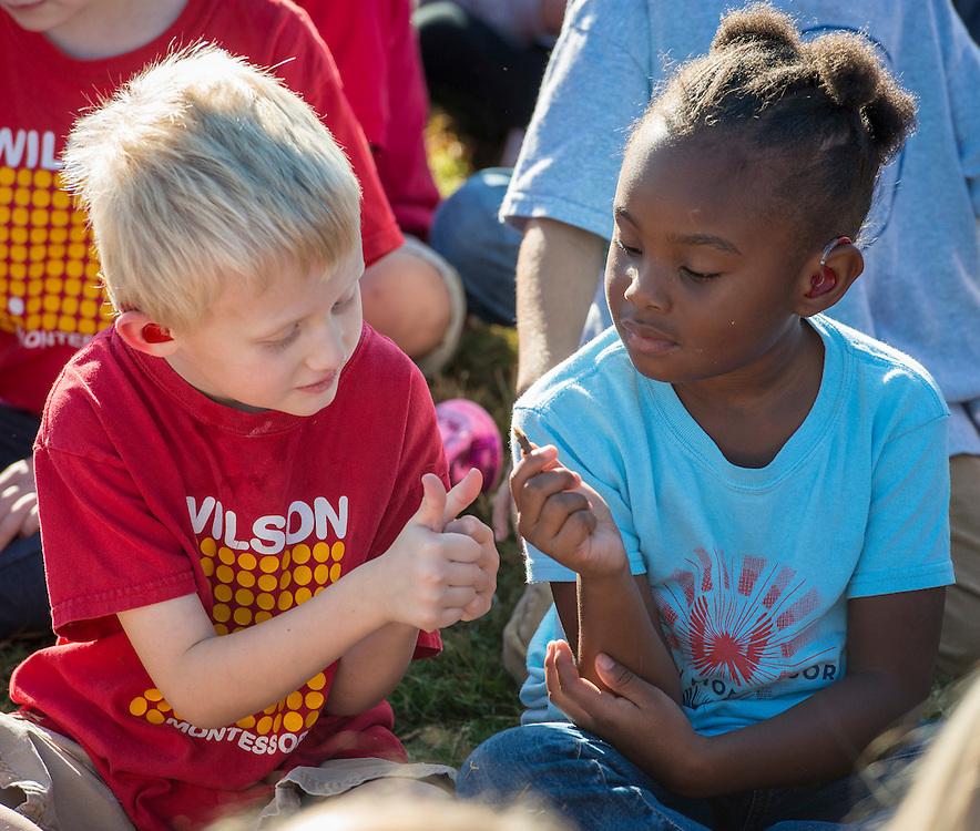 during a groundbreaking ceremony at Wilson Montessori, November 15, 2016.