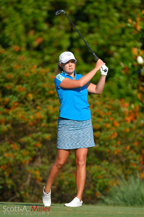 Shannon Fish during the final round of the Chico's Patty Berg Memorial on April 19, 2015 in Fort Myers, Florida. The tournament feature golfers from both the Symetra and Legends Tours.<br /> <br /> &copy;2015 Scott A. Miller