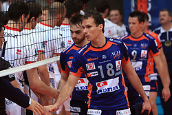 Rok Satler at volleyball match of CEV Indesit Champions League Men 2008/2009 between Trentino Volley (ITA) and ACH Volley Bled (SLO), on November 4, 2008 in Palatrento, Italy. (Photo by Vid Ponikvar / Sportida)