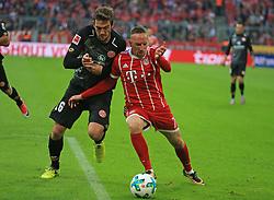 20170916, 1.BL. FCB vs Mainz 05, 1.Bundesliga, Allianz Arena Muenchen, Fussball, Sport, im Bild:...Stefan Bell (Mainz05) vs Franck Ribery (FCB)..*Copyright by:  Philippe Ruiz..Postbank Muenchen.IBAN: DE91 7001 0080 0622 5428 08..Oberbrunner Strasse 2.81475 MŸnchen, .Tel: 089 745 82 22, .Mobil: 0177 29 39 408..( MAIL:  philippe_ruiz@gmx.de ) ..Homepage: www.sportpressefoto-ruiz.de. (Credit Image: © Philippe Ruiz/Xinhua via ZUMA Wire)