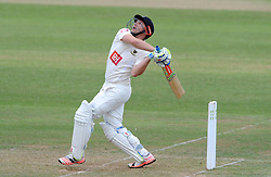 Sussex's Luke Wright pulls the ball. - Photo mandatory by-line: Harry Trump/JMP - Mobile: 07966 386802 - 06/07/15 - SPORT - CRICKET - LVCC - County Championship Division One - Somerset v Sussex- Day Two - The County Ground, Taunton, England.