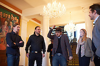 Members of the german Piraten Partei get a tour of Alþingi Parlament building in Reykjavik lead by Guðmundur Steingrímsson.