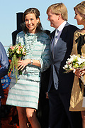 Koninginnedag 2012 in de Utrechtse gemeente Rhenen.// Queensday 2012 in the city of Rhenen.<br /> <br /> Op de foto: Prinses Maril&egrave;ne en Prins Willem Alexander