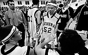 Jason McElwain talks with players prior to the game against Spencerport High on February 16, 2006.  Jason has autism and has been the team manager of the Greece-Athena High School basketball team for the past two seasons.  For their last home game of the season head coach Jim Johnson let Jason suit up and promised to let him in sometime during the game.  Jason's performance spurred national attention and even inquiries from over 20 movie production companies.
