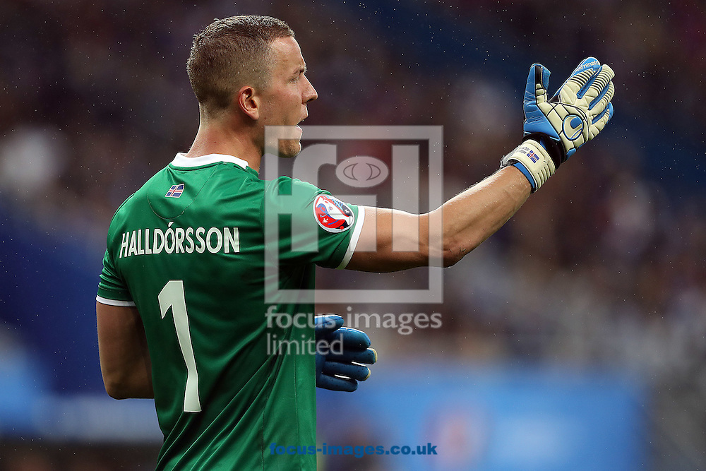 Hannes Halldorsson of Iceland during the quarter final match at Stade de France, Paris<br /> Picture by Paul Chesterton/Focus Images Ltd +44 7904 640267<br /> 03/07/2016
