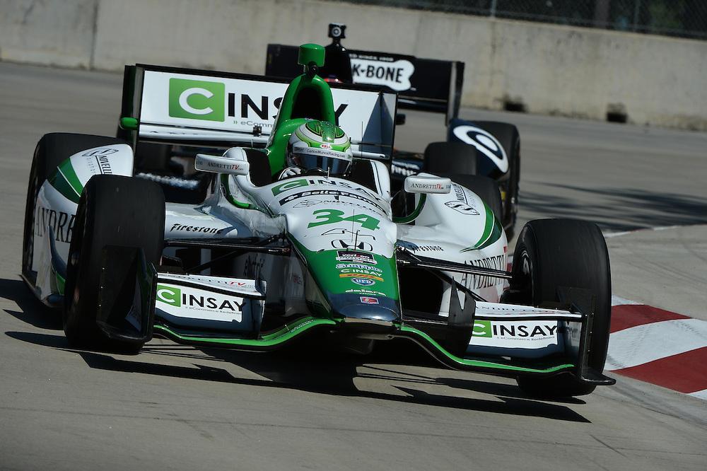 Carlos Munoz, The Raceway at Belle Isle Park, Detroit, MI USA 6/1/2014