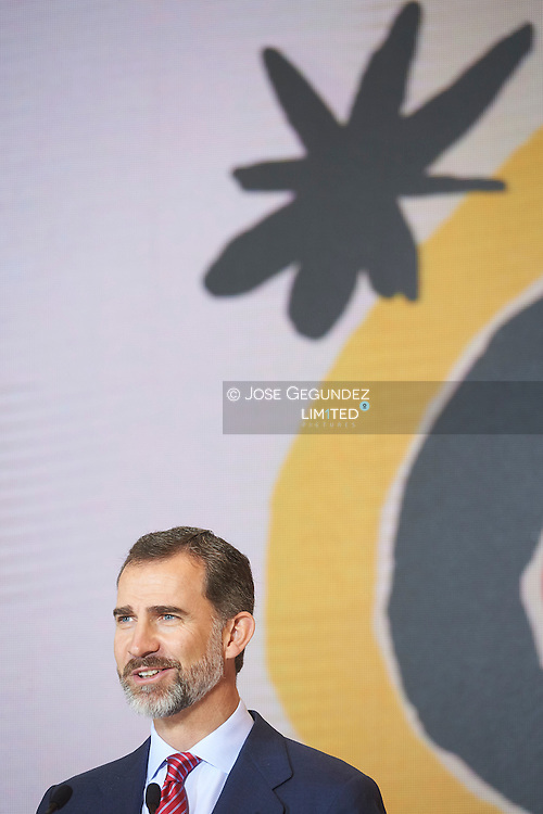 King Felipe VI of Spain attended the Opening of Internacional Tourism Fair (FITUR) at Feria de Madrid on January 28, 2015 in Madrid