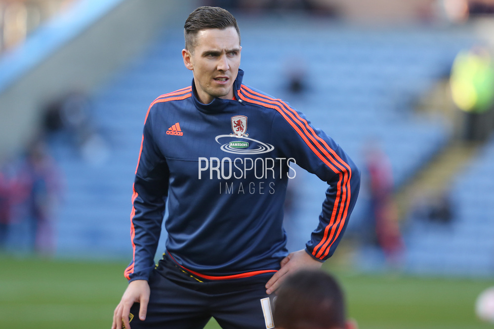 Stewart Downing of Middlesbrough before the Sky Bet Championship match between Burnley and Middlesbrough at Turf Moor, Burnley, England on 19 April 2016. Photo by Simon Brady.