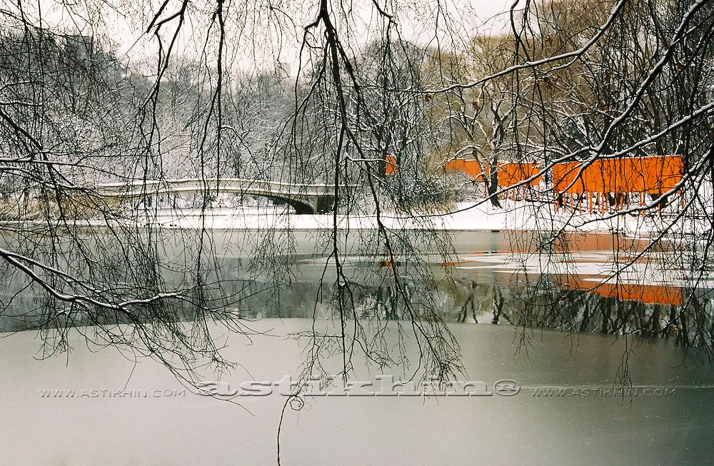 Winter in Central Park, Manhattan, New York.