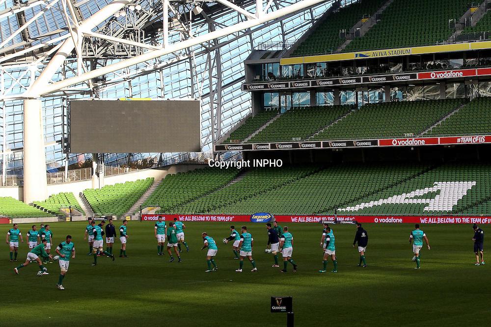 Ireland Rugby Captain's Run, Aviva Stadium, Dublin 18/11/2016<br /> A view of the team during training<br /> Mandatory Credit &copy;INPHO/Aislinn Marmion