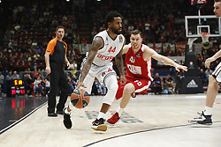 November 17, 2017 - Milan, Milan, Italy - Bryce Taylor (#44 Brose Bamberg) drives to the basket during a game of Turkish Airlines EuroLeague basketball between  AX Armani Exchange Milan vs Brose Bamberg at Mediolanum Forum, on November 17, 2017 in Milan, Italy. (Credit Image: © Roberto Finizio/NurPhoto via ZUMA Press)