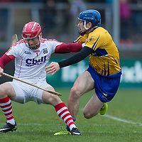 Cork's Anthony Nash is under pressure from  Clare's Shane O'Donnell