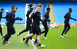 Marco Verratti smiles during the warm up - Mandatory byline: Matt McNulty/JMP - 07966386802 - 11/04/2016 - FOOTBALL - Manchester City v PSG - Etihad Stadium -Manchester,England - UEFA Champions League