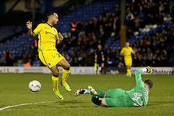 Byron Moore of Bristol Rovers has a shot saved by Joe Murphy of Bury - Mandatory by-line: Matt McNulty/JMP - 14/03/2017 - FOOTBALL - Gigg Lane - Bury, England - Bury v Bristol Rovers - Sky Bet League One