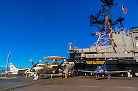 USS Midway Museum (aircraft carrier), The Embarcadero, San Diego, California USA.