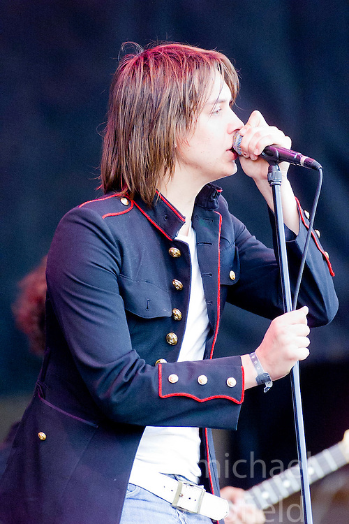 Julian Casablancas of The Strokes, on stage at Gig on the Green 2001 on Sunday 26th August 2001, at <br /> Glasgow Green, Glasgow, Scotland.