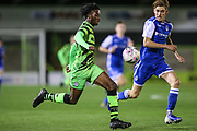 Forest Green Rovers Daniel Ogunleye(35) runs forward during the FA Youth Cup match between Forest Green Rovers and Helston Athletic at the New Lawn, Forest Green, United Kingdom on 29 October 2019.