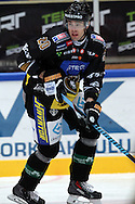 17.9.2014, Ritari Areena, Hämeenlinna.<br /> Jääkiekon SM-liiga 2014-15. Hämeenlinnan Pallokerho - Oulun Kärpät.<br /> Simon Suoranta - Kärpät