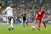 Birmingham City midfielder David Davis (26) plays a pass during the EFL Sky Bet Championship match between Fulham and Birmingham City at Craven Cottage, London, England on 10 September 2016. Photo by Andy Walter.