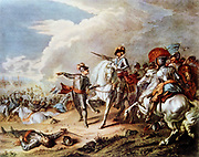 English Civil Wars: Battle of Naseby 14 June 1645. Decisive victory over Royalists by Parliamentarians under Fairfax and Cromwell.