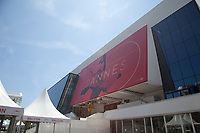 Preperations underway for the 70th Cannes Film Festival at Palais des festivals, starting 17th May. Cannes, France, Tuesday 16th May 2017