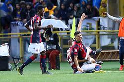 """Foto LaPresse/Filippo Rubin<br /> 13/05/2019 Bologna (Italia)<br /> Sport Calcio<br /> Bologna - Parmai - Campionato di calcio Serie A 2018/2019 - Stadio """"Renato Dall'Ara""""<br /> Nella foto: ESULTANZA GOAL BOLOGNA RICCARDO ORSOLINI (BOLOGNA F.C.)<br /> <br /> Photo LaPresse/Filippo Rubin<br /> May 13, 2019 Ferrara (Italy)<br /> Sport Soccer<br /> Bologna vs Parma - Italian Football Championship League A 2018/2019 - """"Dall'Ara"""" Stadium <br /> In the pic: CELEBRATION GOAL RICCARDO ORSOLINI (BOLOGNA F.C.)"""