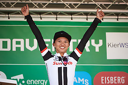 Stage winner, Coryn Rivera (USA) at OVO Energy Women's Tour 2018 - Stage 2, a 145 km road race from Rushden to Daventry, United Kingdom on June 14, 2018. Photo by Sean Robinson/velofocus.com