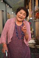 Tsuyako Taira, 80 years old are living at a  temporary housing complex in Ishinomaki, Japan.