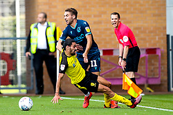 Luke Leahy of Bristol Rovers is fouled by Ryan Edwards of Burton Albion who is shown a yellow card - Mandatory by-line: Robbie Stephenson/JMP - 31/08/2019 - FOOTBALL - Pirelli Stadium - Burton upon Trent, England - Burton Albion v Bristol Rovers - Sky Bet League One