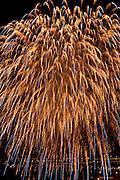 Fireworks show at Hogueras de San Juan festival. Alicante City, Costa Blanca, Spain, Europe.