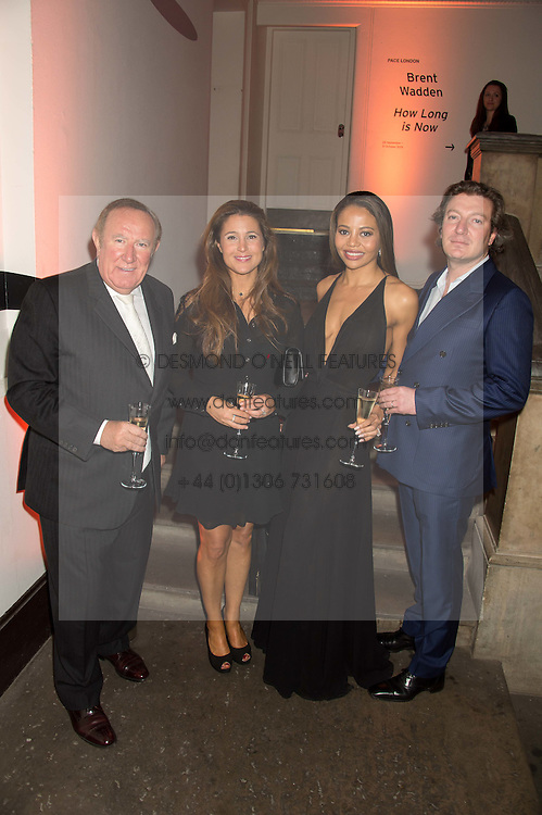 Left to right, ANDREW & SUSAN NEIL and VISCOUNT & VISCOUNTESS WEYMOUTH at a dinner to celebrate Sir David Tang's 20 year patronage of the Royal Academy of Arts and the start of building work on the Burlington Gardens wing of the Royal Academy held at 6 Burlington Gardens, London on 26th October 2015.